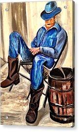 Cowboy Blue Acrylic Print by Melanie Wadman