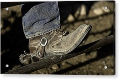 Cowboy Boots And Spurs Acrylic Print