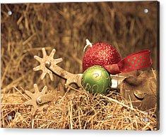 Cowboy Christmas Acrylic Print