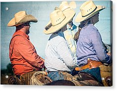 Acrylic Print featuring the photograph Cowboy Colors by Steven Bateson