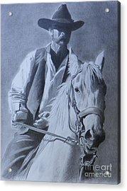 Cowboy Acrylic Print by David Ackerson