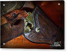 Cowboy Gun In Holster Acrylic Print