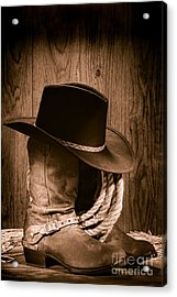 Cowboy Hat And Boots Acrylic Print