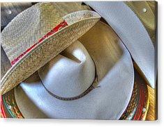 Cowboy Hats Acrylic Print