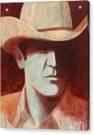 Cowboy Acrylic Print by J W Kelly