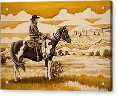 Cowboy On The Range Acrylic Print