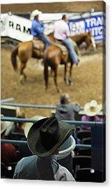 Cowboy Rodeo Competition At Oklahoma Acrylic Print