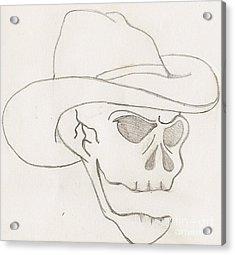 Cowboy Skull Acrylic Print by Scott Williams