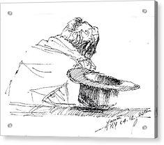 Cowboy Taking A Break  Acrylic Print