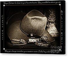 Cowboy Toast Acrylic Print