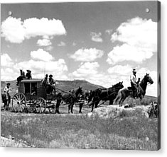 Cowboy Wagon Ride Acrylic Print by Retro Images Archive