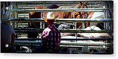 Acrylic Print featuring the photograph Cowboys Corral by Susan Garren