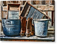 Cowboys Have Laundry Too Acrylic Print by Paul Ward