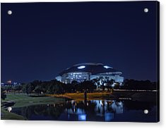 Cowboys Stadium Game Night 1 Acrylic Print