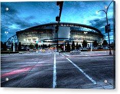 Cowboys Stadium Pregame Acrylic Print by Jonathan Davison