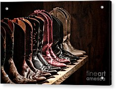 Cowgirl Boots Collection Acrylic Print by Olivier Le Queinec