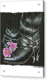 Cowgirl Boots Acrylic Print by Sheena Pape