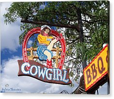 Acrylic Print featuring the photograph Cowgirl Cafe by Sylvia Thornton