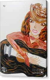 Cowgirl Singer Acrylic Print by Marie Bulger