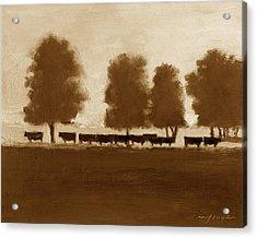Cowherd Acrylic Print by J Reifsnyder