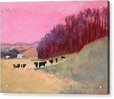 Cows 3 Acrylic Print by J Reifsnyder