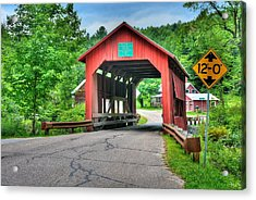 Cox Brook Bridge Acrylic Print by John Nielsen
