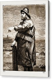Coxswain Robert Hook Of The Lowestoft Lifeboat Samuel Acrylic Print by Litz Collection