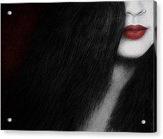 Acrylic Print featuring the painting Coy by Pat Erickson