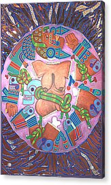 Coyolxauhqui Acrylic Print by Jane Madrigal