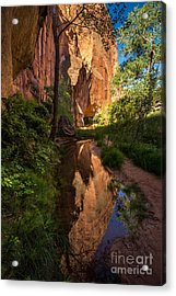 Coyote Gulch Canyon Reflection - Utah Acrylic Print