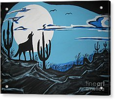 Acrylic Print featuring the painting Coyote by Jeffrey Koss