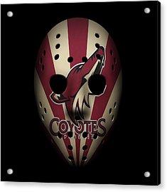 Coyotes Goalie Mask Acrylic Print
