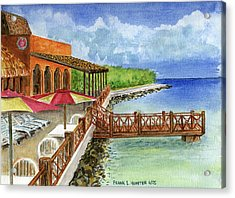 Cozumel Mexico Little Pier Acrylic Print by Frank Hunter