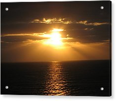 Cozumel Mexico Sunset Acrylic Print by Jean Marie Maggi