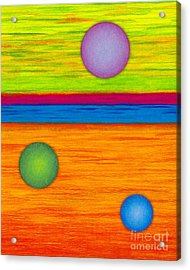 Cp001 Circle Montage Acrylic Print by David K Small