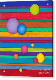 Cp003 Stripes And Circles Acrylic Print by David K Small