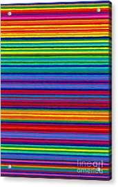 Cp038 Tapestry Stripes Acrylic Print by David K Small