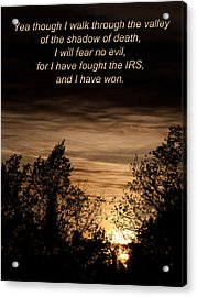 Cpa Quote Acrylic Print