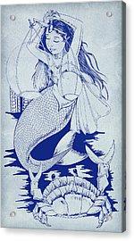 Crab And The Mermaid Acrylic Print