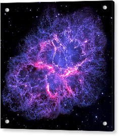 Crab Nebula In Blue Acrylic Print