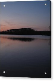 Crab Orchard Lake At Peace - 1 Acrylic Print
