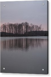 Crab Orchard Lake At Peace - 3 Acrylic Print