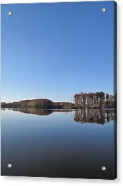 Crab Orchard Lake's Blue Mood Acrylic Print