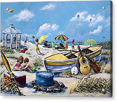 Crab Pickin Acrylic Print by Gail Butler
