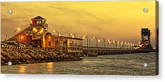 Crab Shack On The James In Amber Glow Acrylic Print