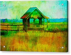 Crab Shack Pawleys Island Acrylic Print by Frank Bright