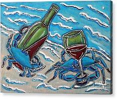 Crab Wine Time Acrylic Print