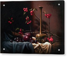 Crabapple Blossoms Acrylic Print by Timothy Jones