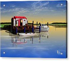 Crabby Shack Acrylic Print by Patrick Belote
