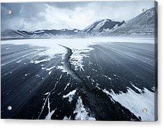 Crack In The Ice Acrylic Print